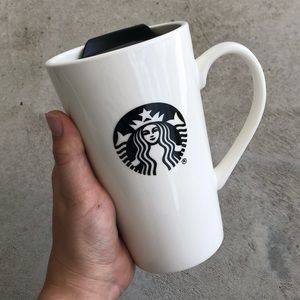 •new• Starbucks Ceramic 14oz Travel Mug w/  Lid